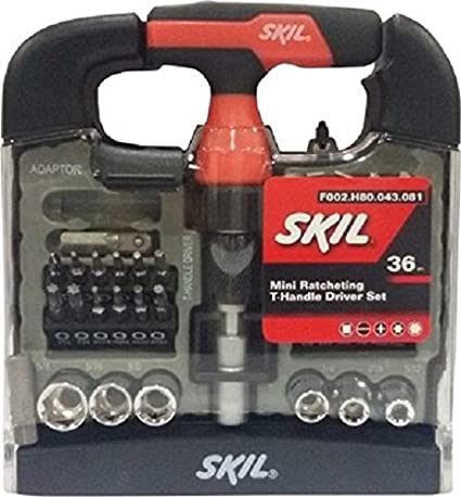 Skil 36 piece Mini T-handle Screw Driver Set