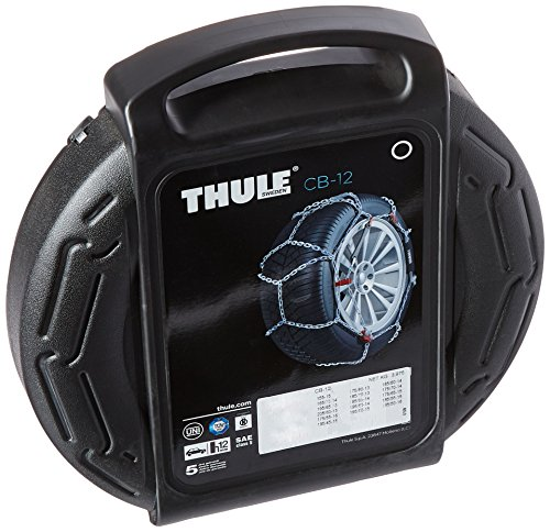Thule 12mm CB12 Passenger Car Snow Chain, Size 060 (Sold in pairs) (2012 Kia Rio Spare Tire compare prices)
