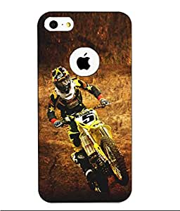 Make My Print Bike Printed Multicolor Hard Back Cover For Apple Iphone 5/5S
