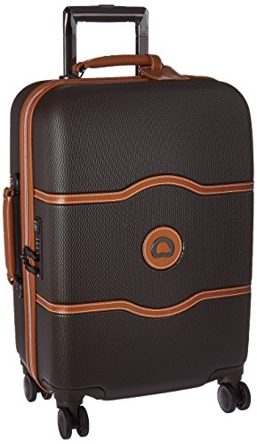 Delsey Luggage Chatelet Hard+ 21 inch Carry on 4 Wheel Spinner, Chocolate (Spinner Trolley Tote compare prices)