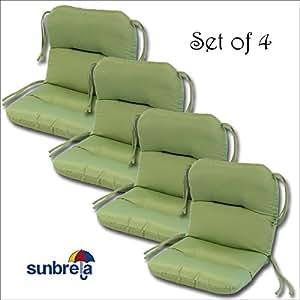 Set Of 4 Outdoor Chair Cushions 20 X 36 X 3 H 19 In Sunbrella Fa