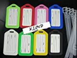 KLOUD City ® Assorted Colors Travel Accessories Luggage Tag Identifier with Name Card