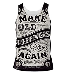 Snoogg Make New Things Mens Casual Beach Fitness Vests Tank Tops Sleeveless T shirts