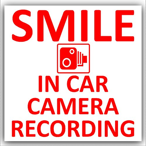 Platinum-Place-1-x-autocollant-Smile-In-Car-Camera-Recording-rouge-sur-blanc-design-extrieur-87-mm-pour-fourgon-camion-camion-taxi-bus-mini-minicab-go-Pro-Dashcam