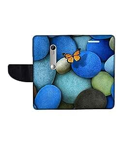 KolorEdge Printed Flip Cover For Motorola Moto G Turbo Edition Multicolor - (1478-50KeMLogo10212MotoGTurboEdit)