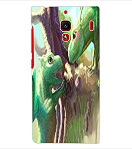 ColourCraft Cute Lizards Design Back Case Cover for XIAOMI REDMI 1S