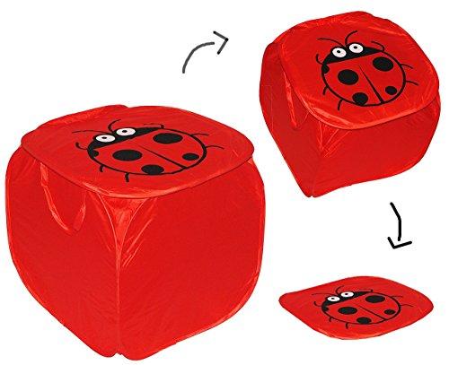 aufbewahrungsbox w schebox marienk fer mit deckel henkel f r kinder kiste box aus. Black Bedroom Furniture Sets. Home Design Ideas