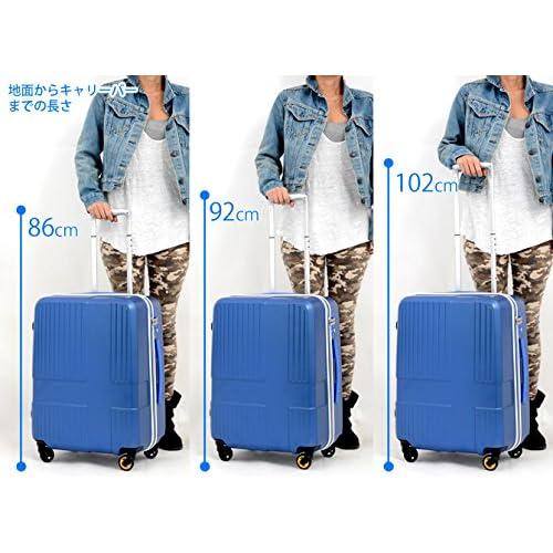 キャリーケース イノベーター 当店オリジナル スーツケース TSAロック 軽量 innovator ファスナータイプ 4輪 50L 3日 5日用 52cm Lサイズ ind950 (ブルー)