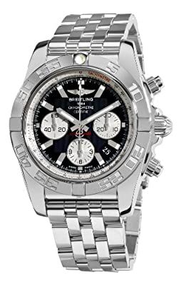 Breitling Men's AB011012/B967 Chronomat B01 Black Chronograph Dial Watch
