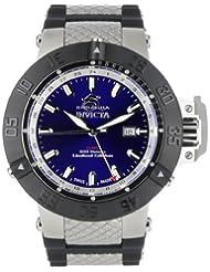 Invicta Men's 0778BYB Subaqua Noma III GMT Black Polyurethane Watch