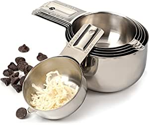 RSVP 6-Piece Stainless Steel Nesting Measuring Cup Set
