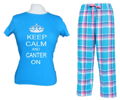 Sapphire pyjama top and pant set 'Keep Calm and Canter On'