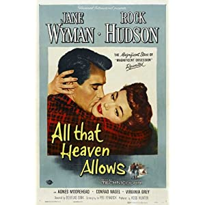 all that heaven allows poster movie b 11x17 jane wyman rock hudson conrad
