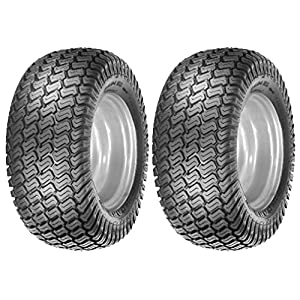 (2) 15x6.00-6 Tires 4 Ply Lawn Mower Garden Tractor 15-6.00-6 Turf Master Tread