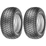 (2) 16x6.50-8 Tires 4 Ply Lawn Mower Garden Tractor 16-6.50-8 Turf Master Tread