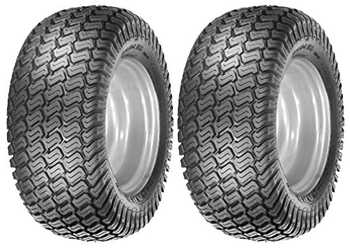 Oregon Pair of 4 Ply Lawn Mower Garden Turf Master Tread Tires for Tractors 15-6.00-6, 15x6.00x6 (John Deere Tires compare prices)