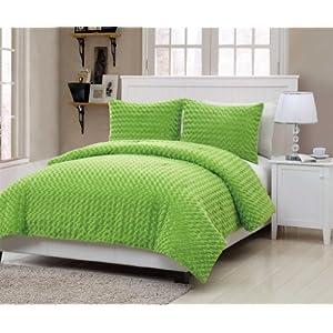Rose Fur 3-piece Comforter Set