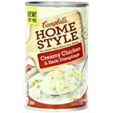Campbell's Homestyle Chicken and Dumplings Soup, 18.8 Ounce Cans (Pack of 12) by Campbell's Homestyle