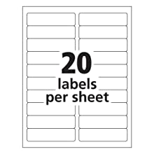 Avery Easy Peel 1 x 4 Inch White Mailing Labels 500 Count (5261)