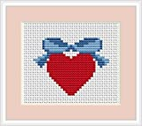 Love Heart Cross Stitch Kit Luca S Beginner 64cm x 5cm