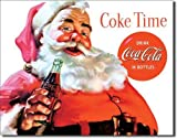 Coca Cola Coke Santa Claus Christmas Tin Sign 13 x 16in