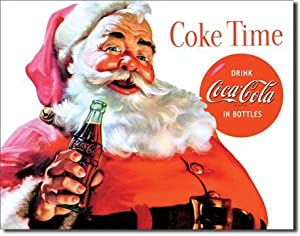#!Cheap Coca Cola Coke Santa Claus Christmas Retro Vintage Tin Sign
