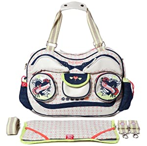 Sweet Morning Radio Gaga Ga Ga Diaper Bag Wi01ra10 in Beige 4260291590178 from Sweet Morning