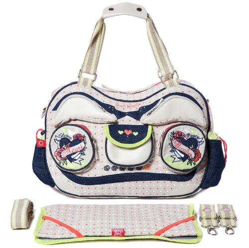 Sweet Morning Radio Gaga Ga Ga Diaper Bag Wi01ra10 in Beige 4260291590178 - 1