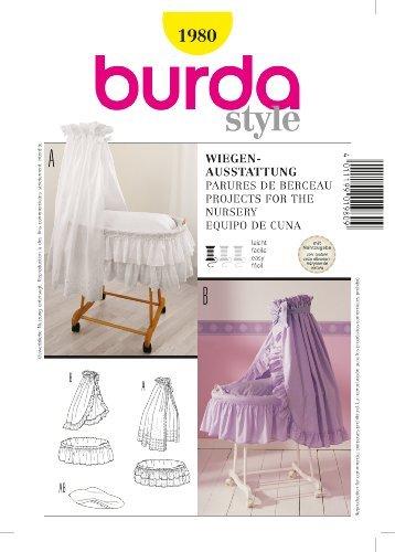 Burda 1980 Baby Bassinet Dressing For Nursery ~ Sewing Pattern front-113335