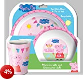 Spearmark Peppa Pig Tea Party Bicchiere, Bowl & Set Plate - 80895