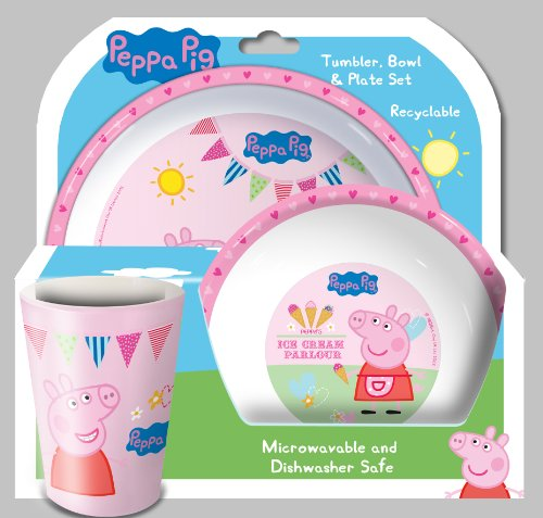 Spearmark Peppa Pig Tea Party Tumbler Bowl Plate Set