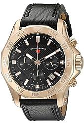 Swiss Legend Men's 16198SM-RG-01 Islander Analog Display Swiss Quartz Black Watch