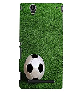 ColourCraft Football Design Back Case Cover for SONY XPERIA T2 ULTRA