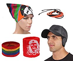 Sushito Fancy Multi Use Winter Cap For Tracking With Stylish Headwrap & Wrist Band