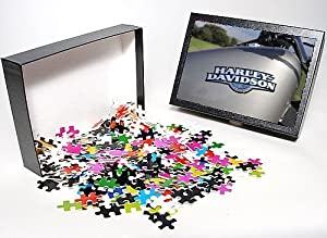 Harley Davidson Puzzles on Amazon Com  Photo Jigsaw Puzzle Of Harley Davidson 883 From Car Photo