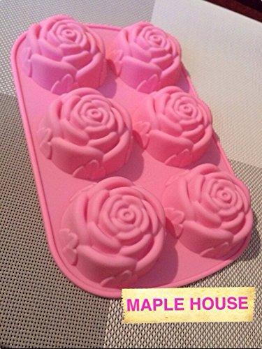 おしゃれなバラ型のシリコンケース 焼き菓子