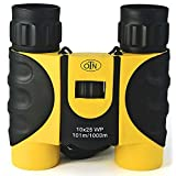 OutNowTech Ultra Compact Folding Binoculars, 10x25, Yellow and Black