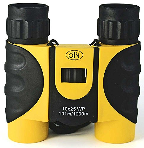 Find Cheap Ultra Compact Folding Binoculars, 10x25, Yellow and Black