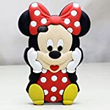 Deco Fairy Branded 3D Cute Cartoon Mouse Soft Silicone Case Cover for Iphone 4 and 4S