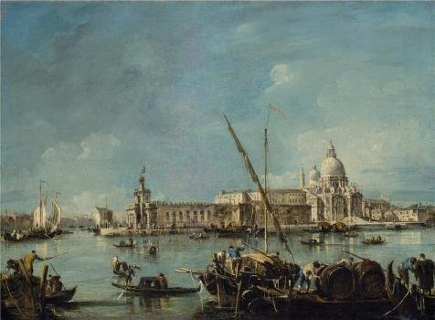 [High Quality Polyster Canvas ,the Imitations Art DecorativePrints On Canvas Of Oil Painting 'Francesco Guardi,View Of The Dogana And Santa Maria Della Salute,1767-1769', 18x24 Inch / 46x62 Cm Is Best For Nursery Artwork And Home Gallery Art And] (Debbie Harry Wig Costume)