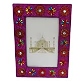 Antique Photo Frame Indian Gift Vintage Style Home Decor Table Top Decorative Picture Frame Handmade Lac Beaded...
