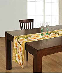 Table Runner Digitally Printed Reversible Polyester -13x72 Inch,Floral,RND01-32