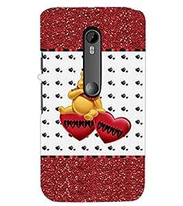 PrintDhaba Sweet Heart D-1286 Back Case Cover for MOTOROLA MOTO G3 (Multi-Coloured)