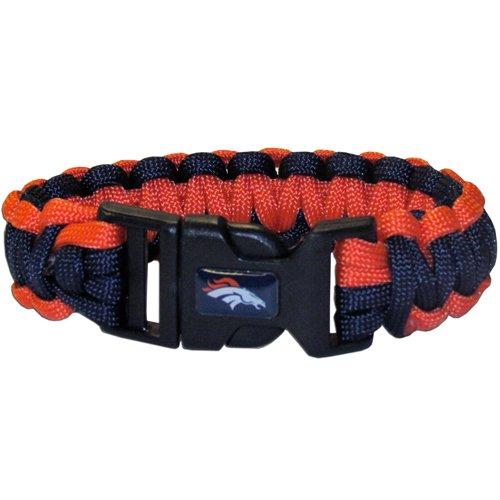 Denver Broncos Nfl Survival Paracord Bracelet Large Authentic Football Team