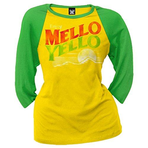 mello-yello-womens-distressed-logo-juniors-raglan-shirt-large-yellow
