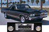 1968 Chevrolet El Camino USA-630 II High Power 300 watt AM FM Car Stereo/Radio with AUX Input, USB Input, iPod Docking Cable. No modifications to original dash required.