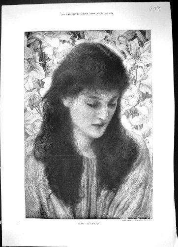 Bella Donna 1896 del Ritratto Antico della Stampa Neaera Ryland