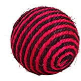 PetSpot Sisal Colored Scratch Ball - 4 Inches