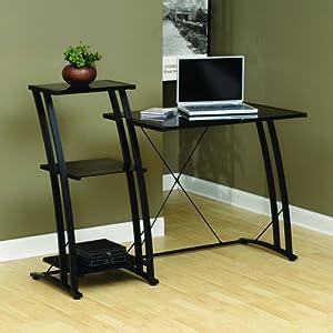 Sauder Deco Tiered Desk, Black Finish