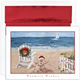 Beach Scene - Warm Weather, Tropical Christmas Cards
